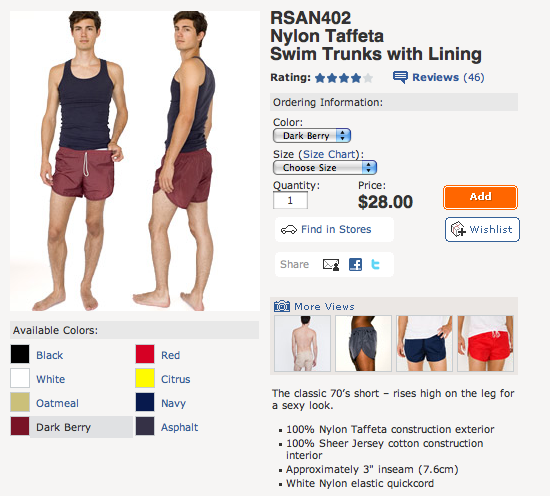 1a362e66a9 You can find MANY options and varieties of fashionable designer mens  swimwear at InternationalJock.com and of course American Apparel's options  are on their ...